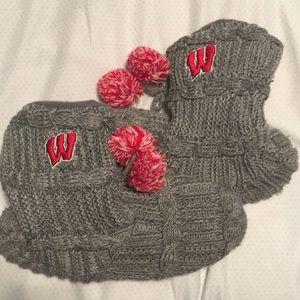 Wisconsin Badger slipper boots